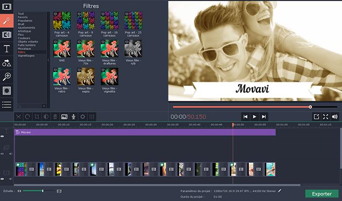 Rogner une vidéo avec Movavi